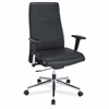 "Lorell Leather Suspension Chair - Bonded Leather Black Seat - Bonded Leather Black Back - 5-star Base - 20.50"" Seat Width x 18"" Seat Depth - 26"" Width x 26"" Depth x 45"" Height"