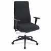 "Lorell Weight Activated High-back Suspension Chair - Fabric Black Seat - Fabric Black Back - 5-star Base - Black - 26"" Width x 26"" Depth x 44.5"" Height"