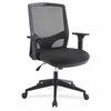 "Lorell Executive Mesh Fabric Swivel Chair - Fabric Black Seat - Black Back - 5-star Base - 28.3"" Width x 42"" Height"