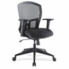 "Plastic Back Flex Chair - Black Seat - Plastic Black Back - 5-star Base - 26.5"" Width x 26.8"" Depth x 41.3"" Height"