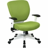 "Deluxe Mesh Task Chair - Green Seat - Green Back - 5-star Base - 20.50"" Seat Width x 19.50"" Seat Depth - 26"" Width x 26.8"" Depth x 38"" Height"