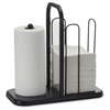"Napkin/Towel Holder - 15.8"" x 16"" x 8"" - Metal - 1 Each - Black"
