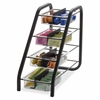"BreakCentral Vertical Condiment Tray - 8 Compartment(s) - 15.8"" Height x 7.6"" Width x 18.4"" Depth - Counter - Black, Clear - Metal - 1Each"