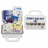 "Safety Eq. 10-person First Aid Kit - 76 x Piece(s) For 10 x Individual(s) - 4.5"" Height x 7.5"" Width x 2.8"" Depth - Plastic Case - 1 Kit"