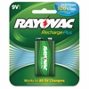 Rayovac Recharge Plus 9-volt Battery - 200 mAh - Nickel Metal Hydride (NiMH) - 9 V DC - 1 Each
