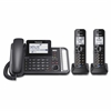 Panasonic Link2Cell KX-TG9582B DECT 6.0 Cordless Phone - Black - Corded/Cordless - 2 x Phone Line - 2 x Handset - Answering Machine