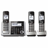 Link2Cell KX-TGF373S Bluetooth Cordless Phone - Silver - Cordless - 1 x Phone Line - 2 x Handset - Speakerphone - Answering Machine