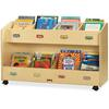 "Jonti-Craft Mobile Section Book Storage Organizer - 8 Compartment(s) - 29.5"" Height x 48"" Width x 16"" Depth - Baltic - Acrylic - 1Each"