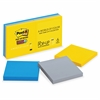 "Post-it Super Sticky Pop-up Notes, 3 in x 3 in, New York Color Collection - 540 x Multicolor - 3"" x 3"" - Square - 90 Sheets per Pad - Unruled - Multicolor - Paper - Self-stick, Recyclable - 6 Pad"