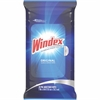 "Windex Glass/Surface Cleaning Wipes - Wipe - Fresh Scent - 7"" Width x 10"" Length - 28 / Packet - 12 / Carton - White"