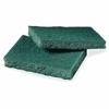 "Cleaning Pad - 40 / Box - 80/Carton - 3"" Width x 4.50"" Depth - Synthetic Fiber - Green"