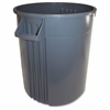 "Gator 32-gallon Vented Container - 32 gal Capacity - Round - 27.1"" Height x 22"" Width - Plastic, Polyethylene - Gray"