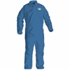 Kimberly-Clark A20 Particle Protection Coveralls - Large Size - Flying Particle, Contaminant, Dust Protection - Blue - 24 / Carton