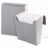 "Organized Up® Vertical Expanding File - Letter - 8 1/2"" x 11"" Sheet Size - 12 Pocket(s) - 1/3 Tab Cut - Assorted Position Tab Location - 11 Divider(s) - Cool Gray - 1 Each"