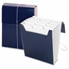 "Smead Organized Up® Vertical Expanding File - Letter - 8 1/2"" x 11"" Sheet Size - 12 Pocket(s) - 1/3 Tab Cut - Assorted Position Tab Location - 11 Divider(s) - Monaco Blue - 1 Each"