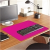 "ES Robbins Color Pop Desk Pad - Rectangle - 36"" Width x 20"" Depth - PVC Vinyl - Pink"