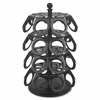 Genuine Joe Lazy Susan Coffee Pod Holder - Steel - 1 Each - Black