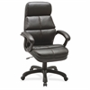 "Luxury High-back Leather Chair - Bonded Leather Seat - Bonded Leather Back - 5-star Base - Black - 27.8"" Width x 32"" Depth x 44.5"" Height"