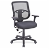 "Lorell Managerial Mid-back Chair - Fabric Seat - Black Back - 5-star Base - Black - 25.3"" Width x 23.5"" Depth x 40.5"" Height"