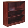 "Essentials Series Mahogany Laminate Bookcase - 36"" x 12"" x 36"", Shelf - 3 Shelve(s) - Square Edge - Material: Medium Density Fiberboard (MDF) - Finish: Mahogany, Thermofused Laminate (TFL)"