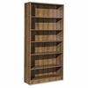 "Lorell Essentials Series Walnut Laminate Bookcase - 36"" x 12.5"" x 72"" Bookshelf, Shelf - 6 Shelve(s) - Square Edge - Material: P2 Particleboard - Finish: Thermofused Laminate (TFL), Walnut"