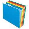 "Pendaflex 2-tone Color Hanging File Folders - Letter - 8 1/2"" x 11"" Sheet Size - 1/5 Tab Cut - 11 pt. Folder Thickness - Assorted - 25 / Box"