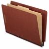 "Pendaflex Kraft Divider EndTab Classification Folder - 1 3/4"" Expansion - 2"" Fastener Capacity for Folder, 1"" Fastener Capacity for Divider - End Tab Location - 1 Divider(s) - 25 pt. Folder Thickness"