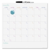 The Board Dudes Magnetic Dry-erase Cubicle Calendar - Monthly - 1 Month Single Page Layout - Metal - Magnetic, Dry Erase Surface, Reference Calendar, Notes Area, Reminder Section