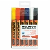 MOLOTOW One4All 4mm Acrylic Markers Basic Set - 4 mm Point Size - Round Point Style - Refillable - Zinc Yellow, Dare Orange, Traffic Red, Signal Black, Signal White, True Blue - 6 / Set