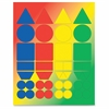 Hygloss Basic Shapes Stickers - 72 Assorted - Self-adhesive - Assorted - 1 Pack
