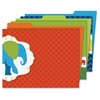 Parade of Elephants File Folders Set - Multi-colored - 6 / Pack