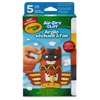 Crayola Air-dry Clay - 5 / Box - White, Terra Cotta, Sunglow, Charcoal