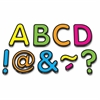 "Neon 2"" Magnetic Letters - Learning Theme/Subject - 87 Letter - Magnetic - Durable, Damage Resistant - 0.10"" Height x 2"" Width x 2"" Depth - Multicolor - 87 / Pack"