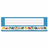 "Parade of Elephants Nameplates - 36 Rectangle - Parade of Elephant - 2.88"" Height x 9.50"" Width - Multicolor - 36 / Pack"