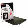 "Hygloss Silhouette Paper - 8.5"" x 11"" - 1 / Pack - Black, White - Paper"