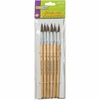 ChenilleKraft No. 12 Watercolor Brushes - 6 Brush(es) - No. 12 Wood Natural Handle - Aluminum Ferrule