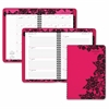 "At-A-Glance Madonna Lace Desk Appointment Book - Julian - Weekly, Monthly, Daily - 1.1 Year - January 2017 till January 2018 - 8:00 AM to 5:00 PM - 1 Week, 1 Month Double Page Layout - 5.50"" x 8.50"" -"