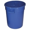 Gator 20-gallon Container - Lockable - 20 gal Capacity - Impact Resistant, Crush Resistant, Spill Resistant, Handle - Polyethylene Resin, Plastic - Blue