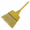 "Impact Products Large Angled Plastic Broom - 53"" Overall Length - 12 / Carton - Plastic Coating, Aluminum Handle - Yellow"