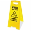 "Impact Products English/Spanish Wet Floor Sign - 6 / Carton - Caution Wet Floor Print/Message - 1"" Width x 24.6"" Height - Rectangular Shape - Impact Resistant, Foldable - Yellow, Black"