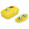 "Beast Box Carrying Case for Pencil, Pen, Sunglasses, Eyeglasses - Yellow - Polyester, Nylon - Beast - 3.2"" Height x 8.2"" Width x 5"" Depth"