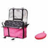 "ZIPIT Carrying Case (Messenger) for 14"" Notebook, Tablet, iPad - Pink, Gray - Scratch Resistant Interior - Shoulder Strap"