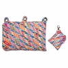 "ZIPIT Colorz Carrying Case (Pouch) for Makeup, Memory Card, Pencil, Pen, Cosmetics, Marker, Crayon, Toy, Scissors, Stationary - Assorted Bright - Polyester, Fabric - Stripes - 5.9"" Height x 9"" Width x"