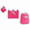 Monstar Carrying Case for Makeup, Memory Card, Key, Accessories, Food - Pink - Polyester - Handle