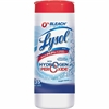 Lysol® with Hydrogen Peroxide Multi-Purpose Cleaning Wipes - 35-count - White - Bleach-free, Anti-bacterial - For Multipurpose - 35 Sheets Per Canister - 12 / Carton