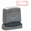 "Pre-inked Paid Title Stamp - Message Stamp - ""PAID"" - 0.50"" Impression Width x 1.63"" Impression Length - 50000 Impression(s) - Assorted - Rubber - 1 Each"