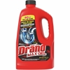 Diversey Drano Clog Remover Max Gel - Gel - 0.61 gal (77.77 fl oz) - Bottle - 1 Each - Red, Yellow