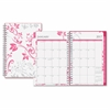 Blue Sky Breast Cancer Awareness Small Wkly/Mthly Alexandra Planner - Small Size - Julian - Weekly, Monthly, Daily - 1 Year - January till December - 1 Week Double Page Layout - Twin Wire - Multicolor