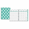 Blue Sky Large Wkly/Mthly Penelope Clear Planner - Large Size - Julian - Weekly, Monthly, Daily - 1 Year - January till December - 2 Week, 2 Month Double Page Layout - Twin Wire - Clear, Multicolor -