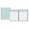 Rue Du Flore Large Frosted Planner - Large Size - Weekly, Monthly, Daily - 1 Year - January till December - 2 Month, 2 Week Double Page Layout - Twin Wire - Frosted, Multicolor - Tabbed, Writ